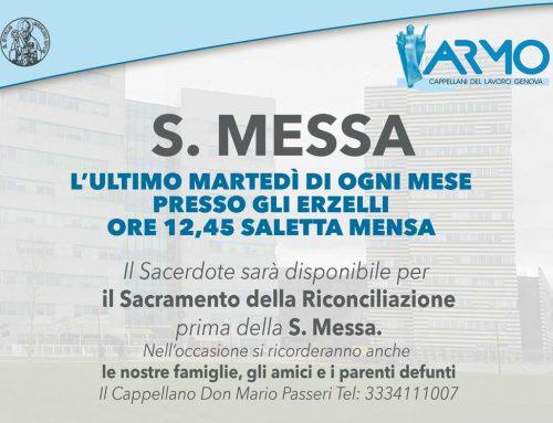 S. Messa presso Erzelli ultimo martedì di ogni mese