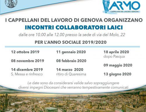 Incontri con i collaboratori laici -anno sociale 2010/2020