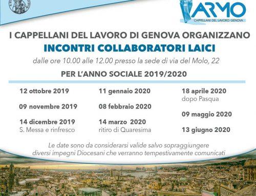 Incontri con i collaboratori laici – anno sociale 2019/2020